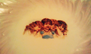 The Creepy Crying Girls Plate